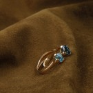 Honey Petal ring med London Blue Topaz thumbnail