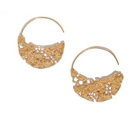 Lazy Lace Hoop Earings Large