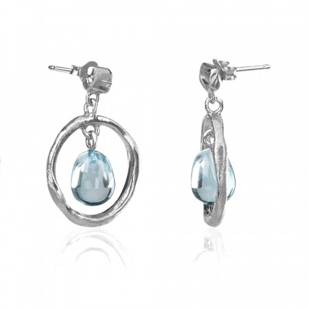 Round branch earrings med Topaz