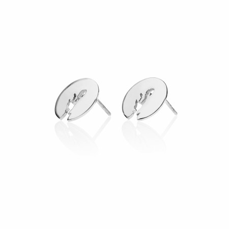 Oslofjord Earrings Silver 12mm
