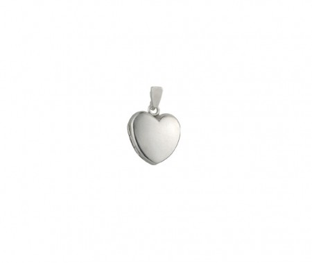 Silver plain SM heart locket 9