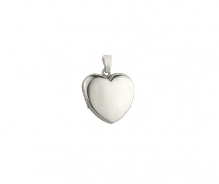 Silver plain LG heart locket 8